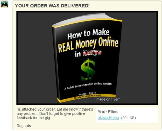 My eBook cover on Fiverr