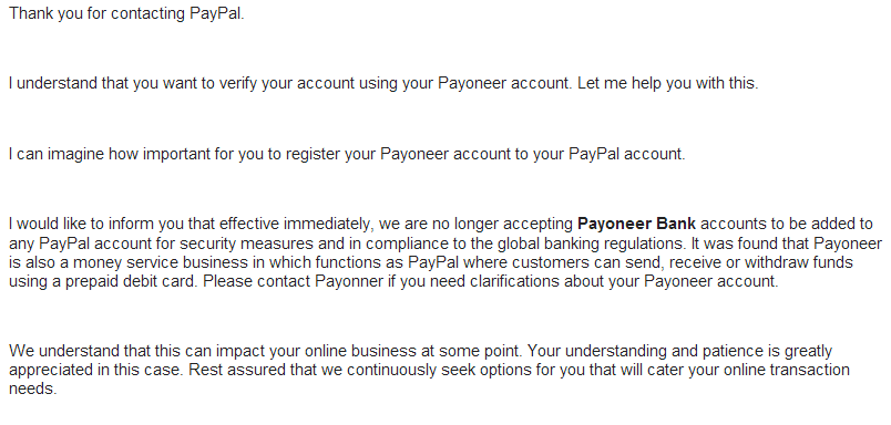 PayPal not taking USPS