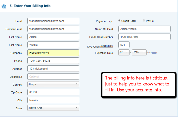 hostgator billing info