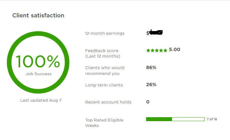 successful freelancer in Upwork